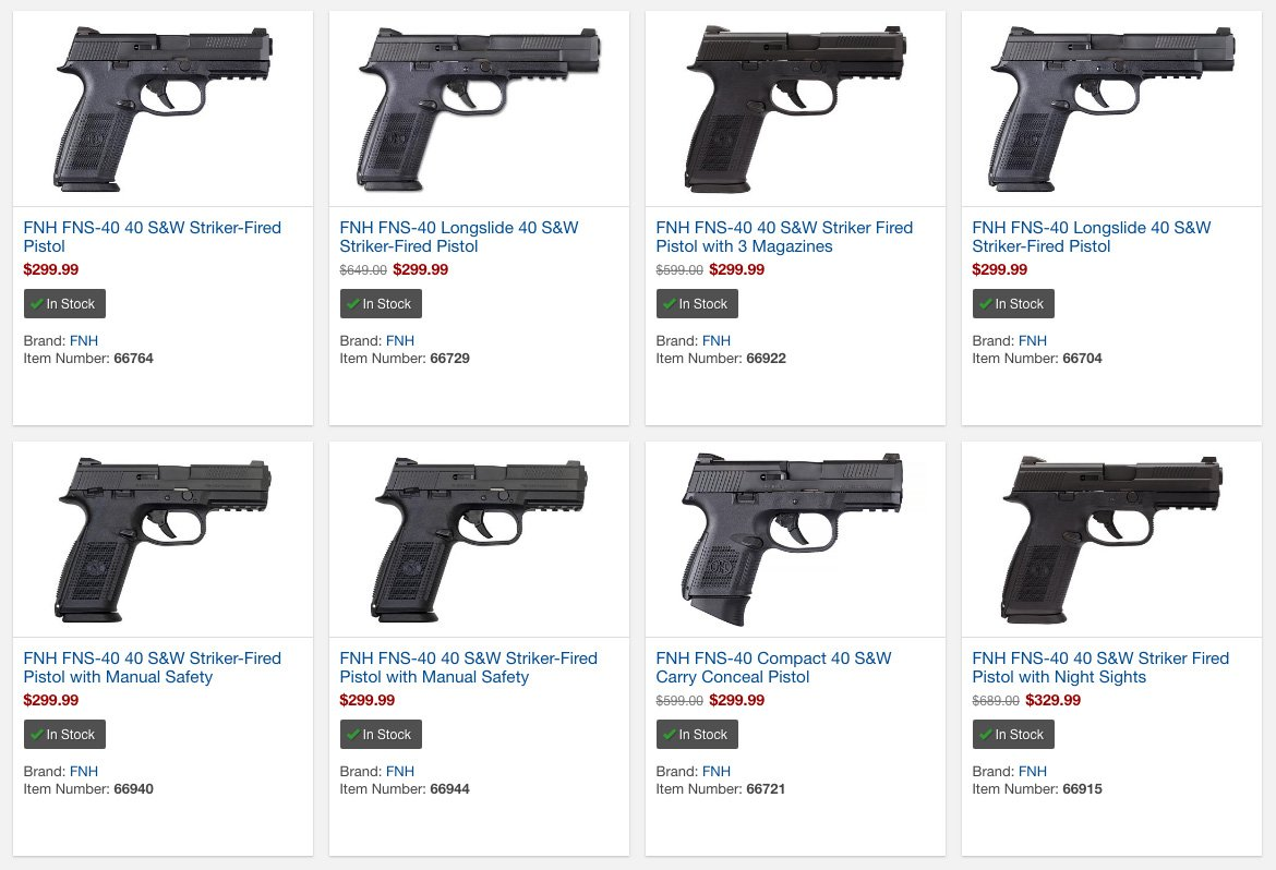 FNH FNS-40  40 S&W Handguns from $299 99 + Free Shipping