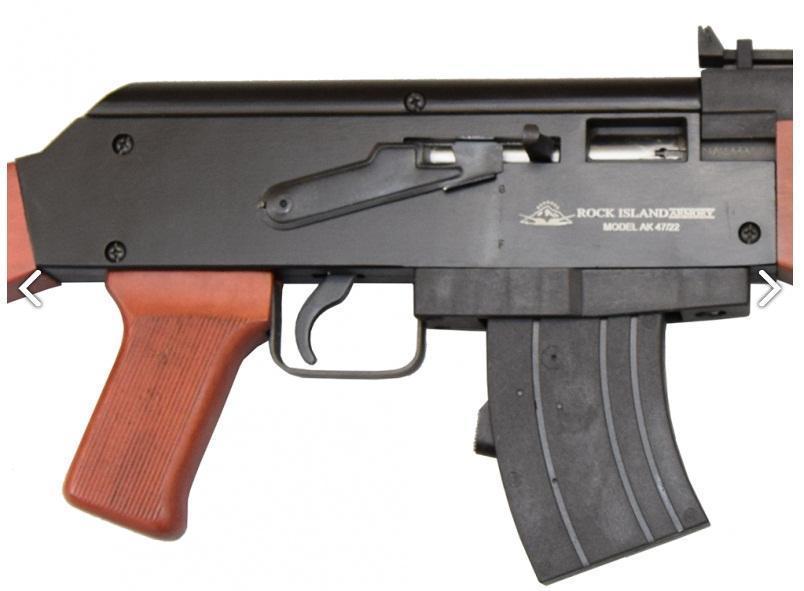 Rock Island Armory 51121 AK-22 Rifle  22 LR 18 25in 10rd Blued Wood -  $159 52