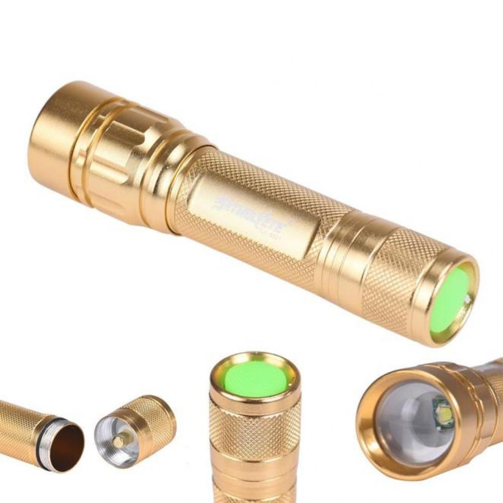 ABC Focus 3 Modes CREE XML T6 LED 18650 Flashlight Torch Powerful (Gold/Silver) - $2.48 + $1 shipping (Free S/H over $25)   gun.deals