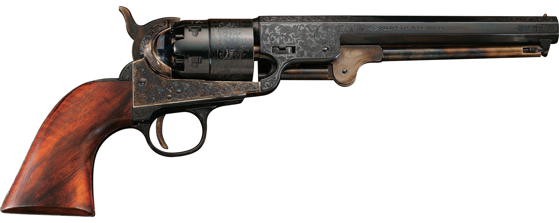 Pietta 1851 Navy Laser-Engraved 44-Cal  Black-Powder Revolver - $279 99  (was $379 99) (Free 2-Day Shipping over $50)