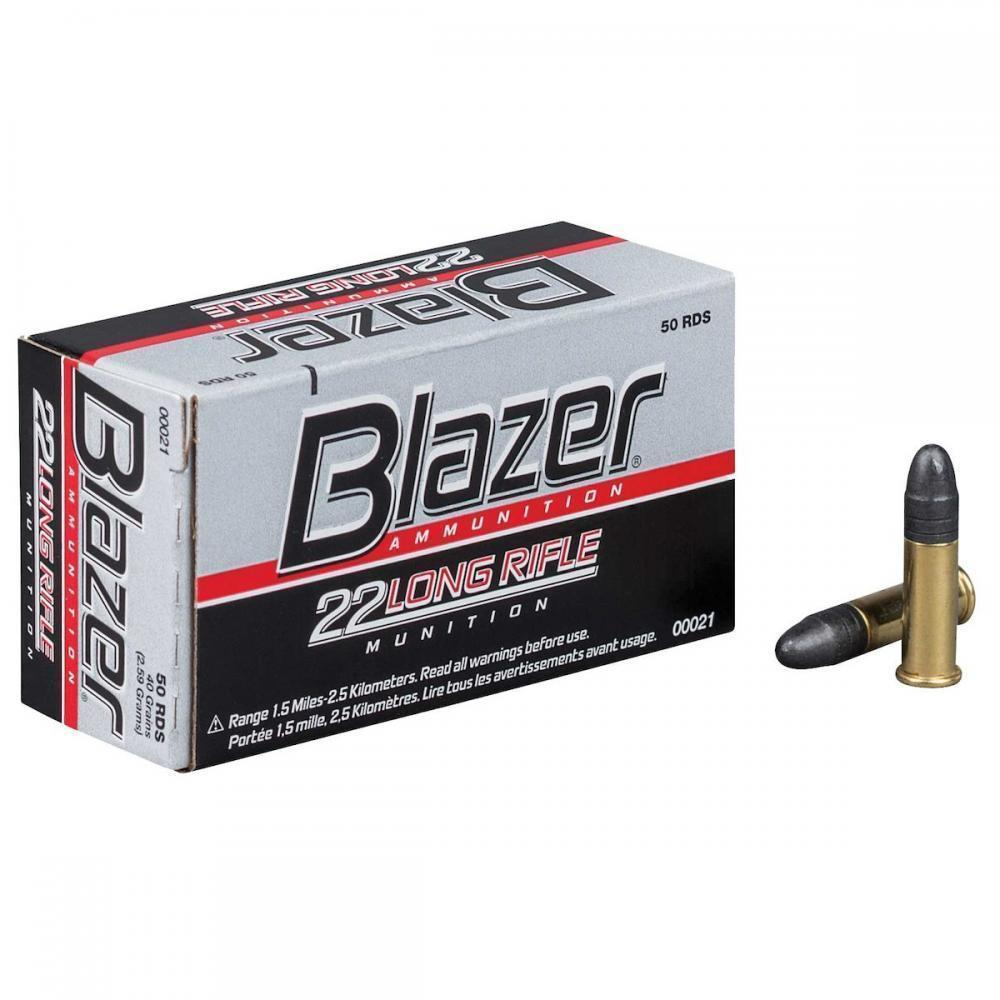 blazer 22 long rifle ammunition 22 lr 40 gr hs 50 rnds 1 89