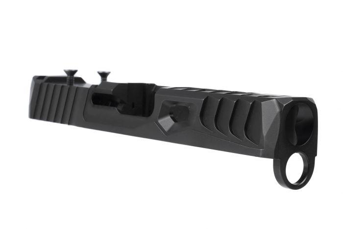 Norsso Glock 19 Reptile TP RMR Slide - Black Nitride - $427 50