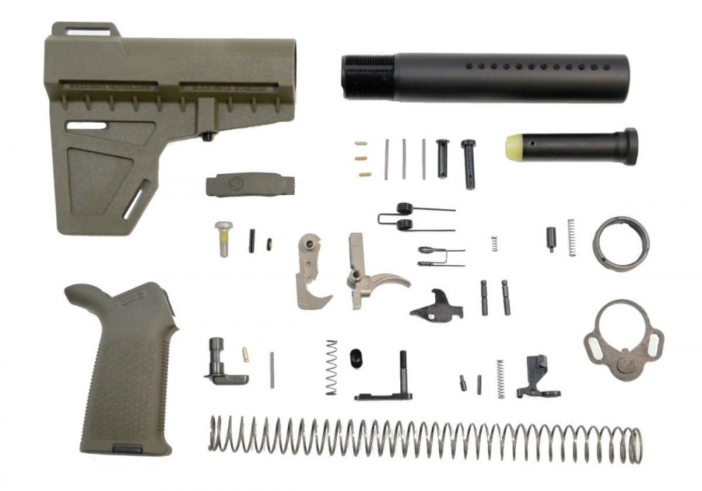 PSA Shockwave MOE EPT Pistol Lower Build Kit, Olive Drab Green - $109 99 +  Free Shipping