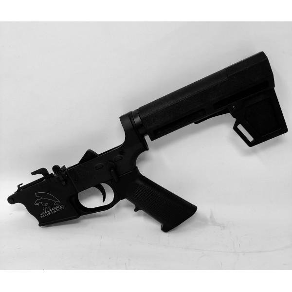 AR-9 9MM GLOCK Style Complete PISTOL Lower with Adjustable SHOCK BRACE,  LRBHO - $329 95