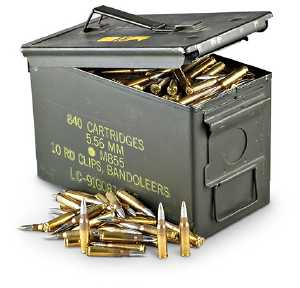 200 rounds German Surplus Non-Corrosive  308 147 gr  FMJ with Military  50  cal Ammo Cans - $94 or $99