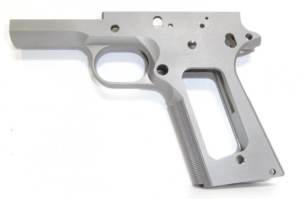1911 80% full size Government frame 416R stainless steel with grip  checkering grip for non ramped barrels - $199 99