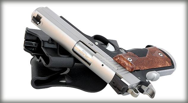 Sig Sauer 1911 45ACP Two Tone Crimson Trace Laser with Wood Grips 4