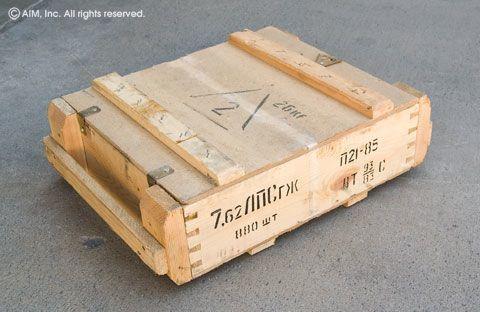russian 147grn fmj 880rd wooden crate. Black Bedroom Furniture Sets. Home Design Ideas