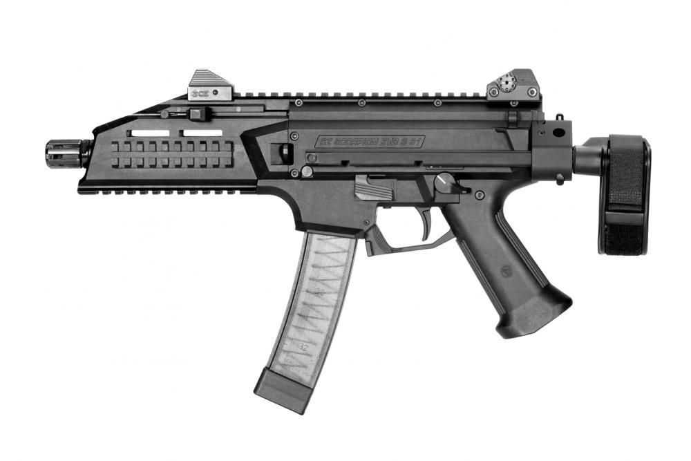 CZ Scorpion Evo 3 S1 9mm Pistol 7 72'' barrel threaded 1/2X28 w/ (2) 20rd  mags & Tactical PDW Collapsible- $949 99 (S/H $19 99 Firearms, $9 99