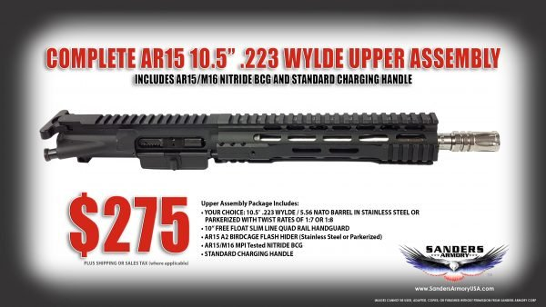 Ar 15 Complete Upper With Bcg And Charging Handle