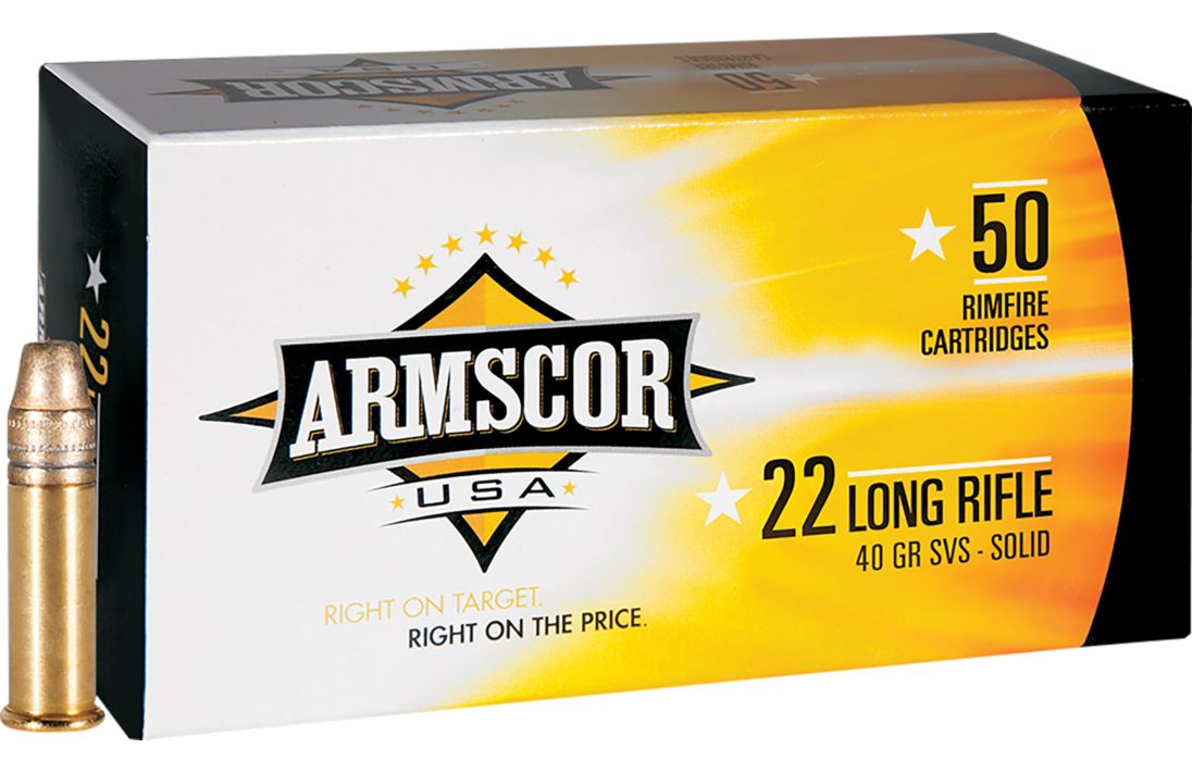 Armscor  22 LR 40-Gr  SVS-Solid 500 Rnds - $14 88 (Free 2-Day Shipping over  $50)