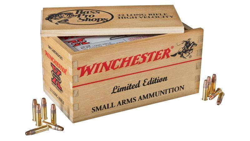 winchester 22lr ammo and limited edition wood ammo box 34 99
