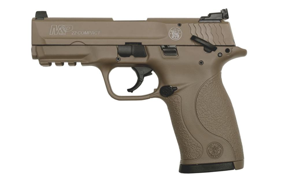 Smith & Wesson M&P22 Compact 22LR Rimfire Pistol with FDE Cerakote Finish -  $289 99 (Free S/H on Firearms)