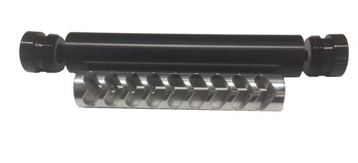 KM Tactical  22lr Solvent Trap 1/2x28 Muzzle Device - $109