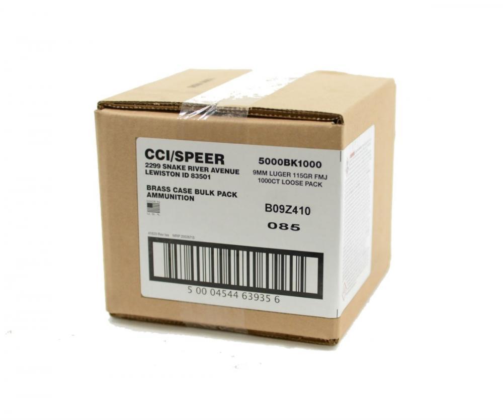 CCI Blazer Brass 9mm 115-Gr  FMJ 1000 Rnds - $169 99