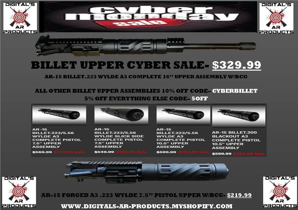 Extended Cyber Monday SALE AR-15  223 WYLDE 7 5