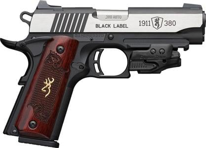 Browning 1911 Black Label Crimson Trace Laser 380 ACP 3 6