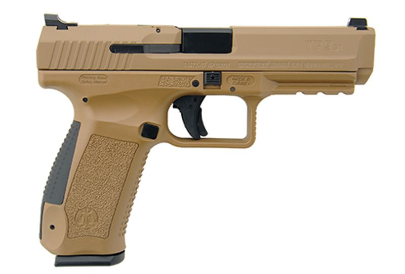 Century Intl  Arms Canik TP9SA MOD 2, 9mm Luger, 4 46″, TacticalSights,  Desert Tan Cerakote, 2 18-rd Mags - $297 12 (Free S/H on Firearms)