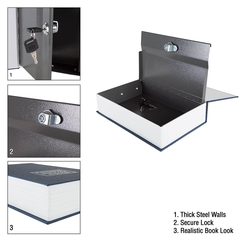 Stalwart Lock Box with Key, Diversion Book Safe - $9 41 +