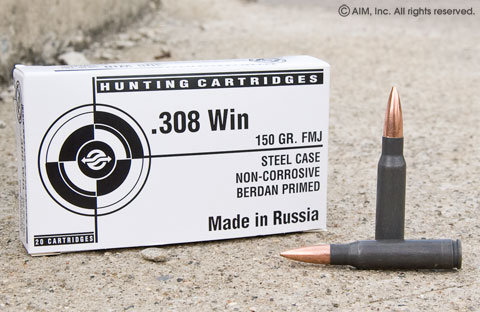 Tula  308 Win FMJ 150grn 500 rounds - $125