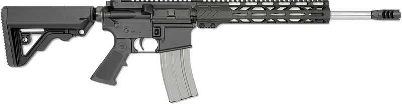 Rock River Arms LAR15M A4  450 Bushmaster Mid Gas 16″ Bbl 6 Pos Stk Blk -  $918 50 (Free S/H on Firearms)