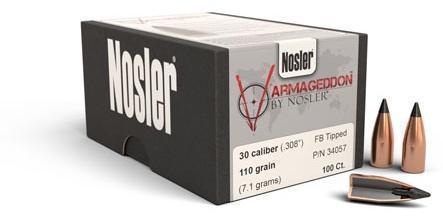 Nosler Varmageddon 30 cal 110 Grain Tipped Bullets 100 ct - $21 99