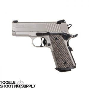 Sig Sauer 1911 Ultra Compact Nickel 9mm 3 3″ Barrel Nickel Finish G-10  Vector Grips 8rd - $829 ($9 95 Flat S/H)