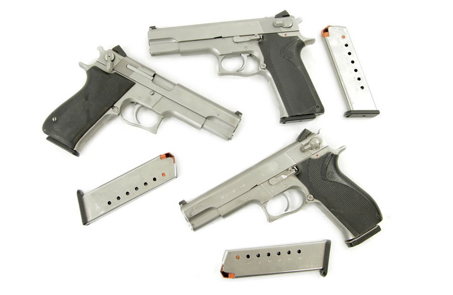 SMITH AND WESSON MODEL 4506 45ACP STAINLESS POLICE TRADES - $319 99 + Free  Shipping (Free S/H on Firearms)