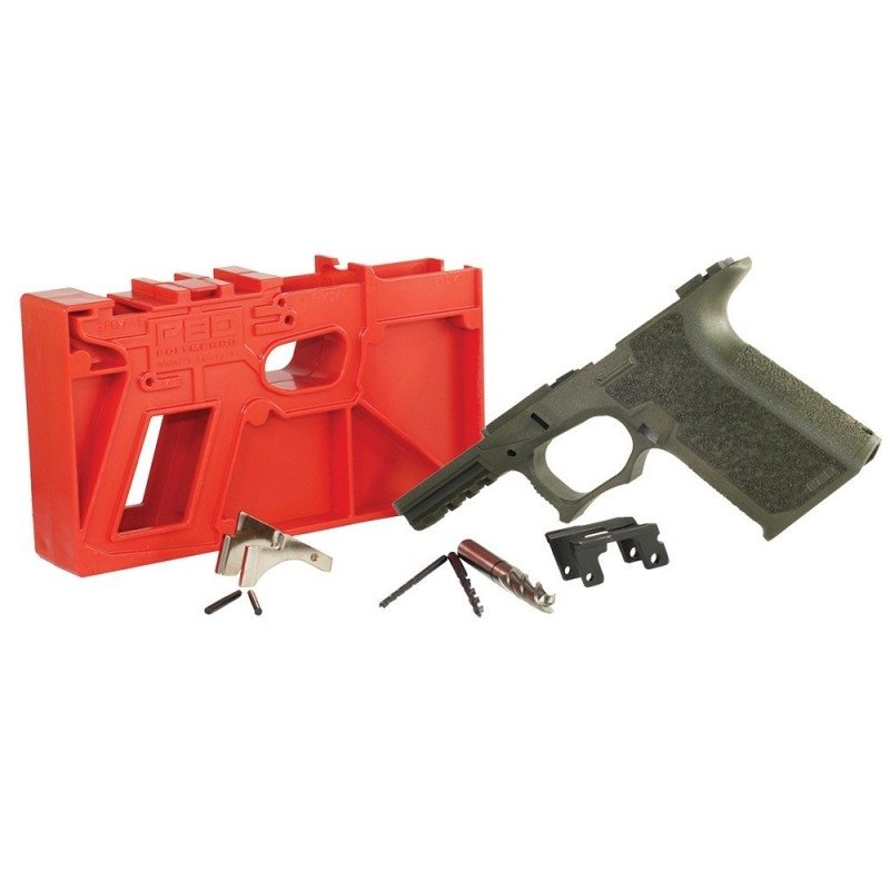 Polymer 80 PF940V2 Full Size Pistol Frame Kit For Glock 17/22 - Version 2 -  OD Green - $109 99 shipped