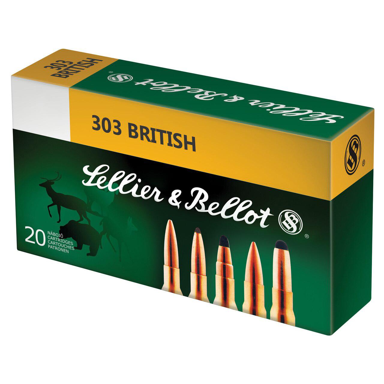 SELLIER & BELLOT 303 British 150 Grain SP Ammo, 20 Round Box (SB303B) -  $12 99