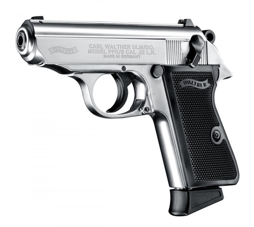 Walther PPK-S 22 LR 3.5″ 10rd Sts FS - $249 | gun.deals