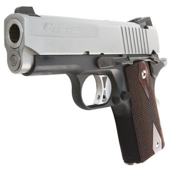 Sig Sauer 1911 Ultra Compact Two Tone 45 ACP Pistol 3 3in Rosewood Grips 7  Rounds - $768 99 shipped + 2 FREE mags and pistol ba (Free S/H on Firearms)