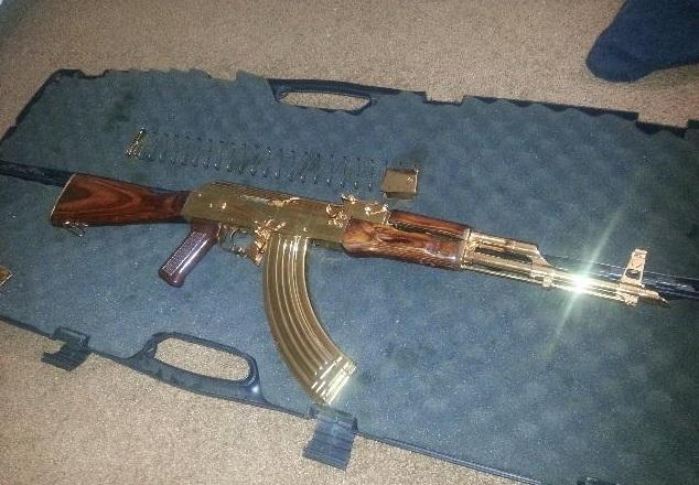 Gold Plated AK 47 for sale - $1200