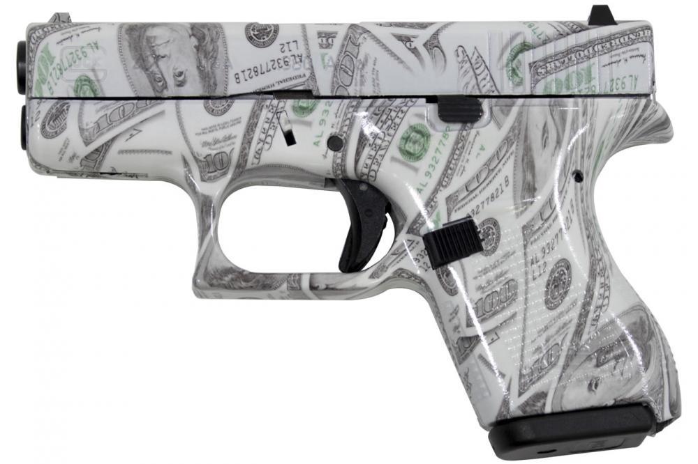Glock 42 380 Acp 3 25 Fs 6 Rd Glowing $100 Bills - $416 99