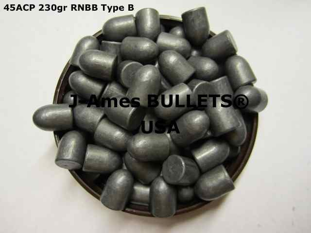 J-Ames BULLETS - Coated Bullets 45ACP 228gr RNBB ( 451/ 452) Qty Type  JB-A217 (1,850) - $187 25 SHIPPED!
