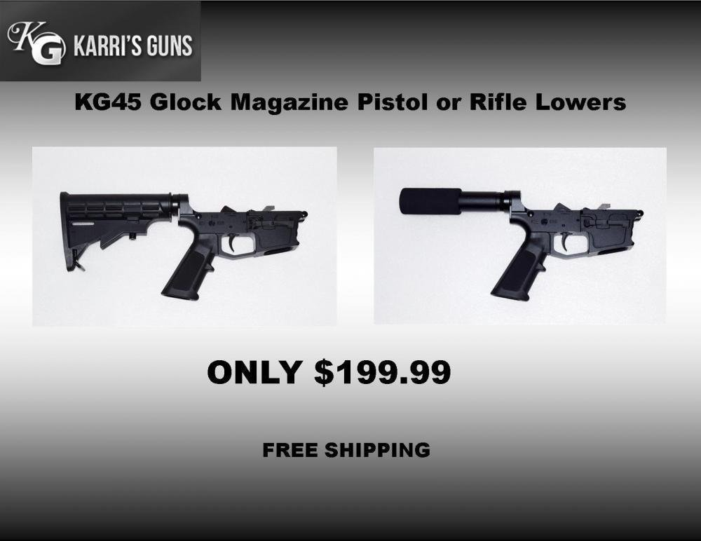 KG45 Glock 45ACP or 10mm Magazine Complete Pistol or Rifle Lower Free  Shipping - $199 99