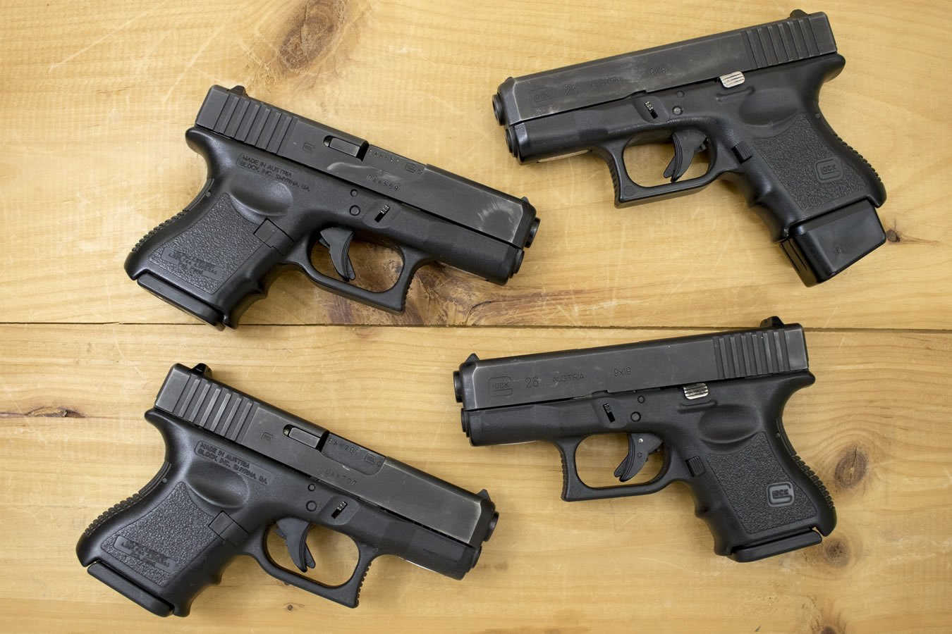 Glock 26 Gen3 9mm Police Trade-in Pistols (Fair Condition) - $339 99 (Free  S/H on Firearms)