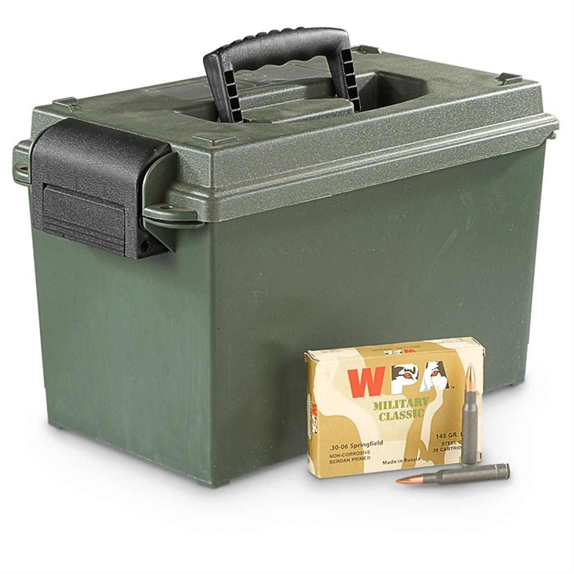 200 rounds  30-06 145 Grain FMJ Ammo with Can - $121 59
