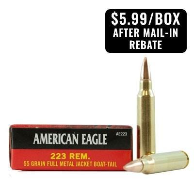 American Eagle Rebate >> American Eagle 223 Rem 55gr Fmj Ammunition 20 Rounds Ae223