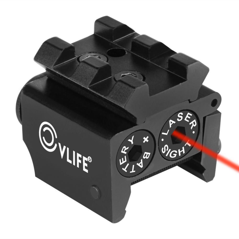 Mini Red Dot Gun Sight Laser with Rail Mount - $11 90 + Free
