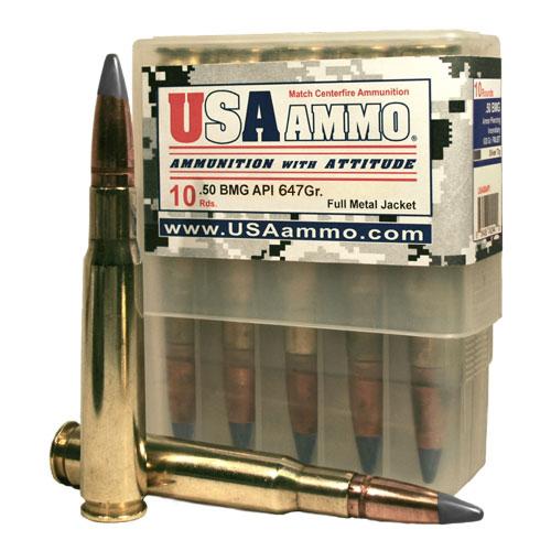 50 BMG API 647 gr  FMJ Ammo Box of 10 - $29 75