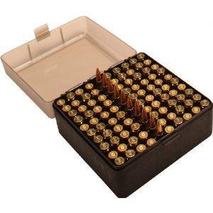 MTM 100 Round Flip-Top Rifle Ammo Box 22-250, 308 Win, 243 - $3 79