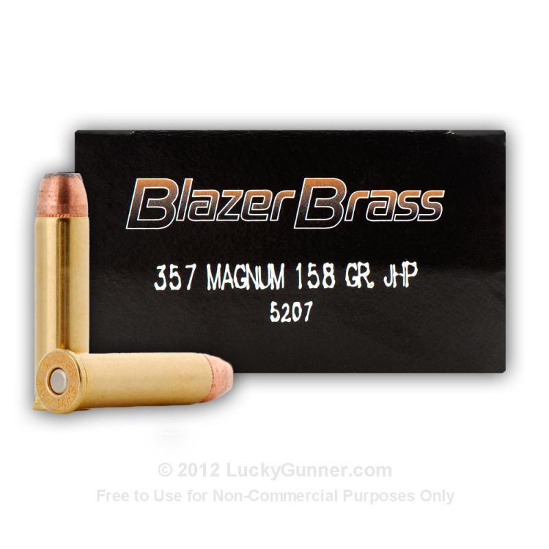 CCI Blazer Brass  357 Mag 158 grain JHP 50 rounds - $21 84