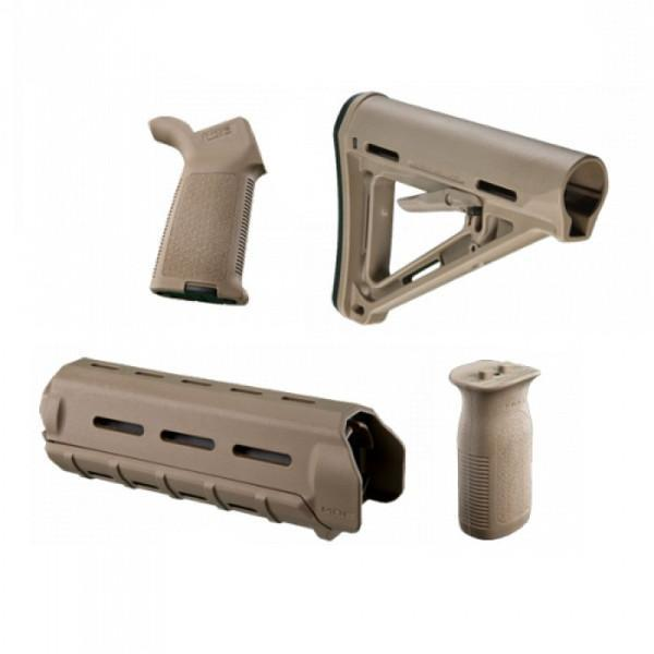 MAGPUL MOE Carbine Furniture Kit (BLK, FDE) - $10.10  gun.deals