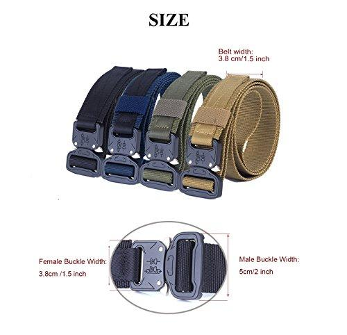 BUSIO Small Tactical Belt Quick Release Metal Buckle Army