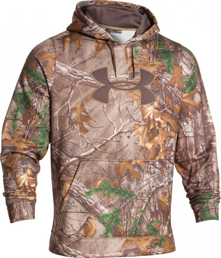 Realtree Hunting Mens Camo Pullover Fleece Hoodie Sweater NWT
