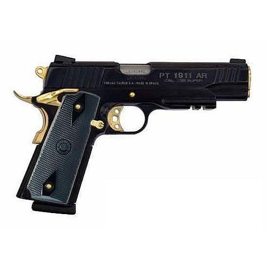 taurus 1911 38 super 5 barrel 9 rounds gold accents 484 77 10