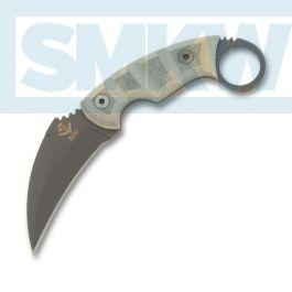 Ontario Ranger Series EOD with Green Micarta Handle and Black Powder Coated  5160 Carbon Steel 3 625