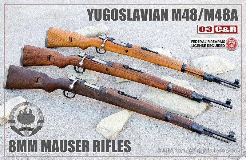 yugoslavian model m48 m48a 8mm mauser rifles as low as 299 95 rh gun deals Yugoslavian M48 Mauser Rifle M48 Mauser Scope Mount