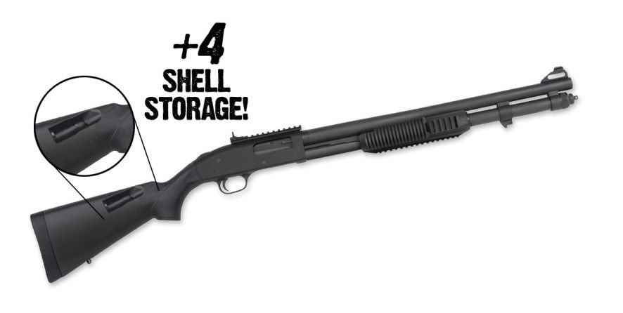 Mossberg 590A1 51771, XS Ghost Ring Sights, +4 Stock, 20″ Barrel 12 Gauge -  $399